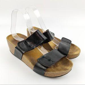 LOLA SABBIA Cork Platform Slide Sandals Sz 40